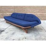 Image of Blue Tweed Mid-Century Custom Sofa