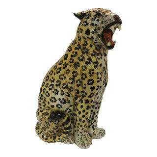 Vintage Italian Terra Cotta Cheetah Statue