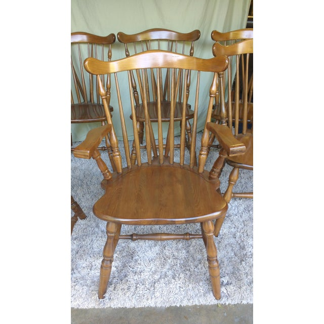Antique Heirloom Fiddle Back Chairs - Set of 8 - Image 5 of 7