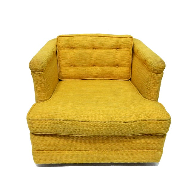 Yellow Mid-Century Club Chair - Image 8 of 8