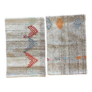 Handwoven Embroidered Wool Turkish Pillows - Pair
