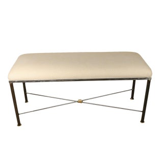 Neoclassical Style Upholstered Bench