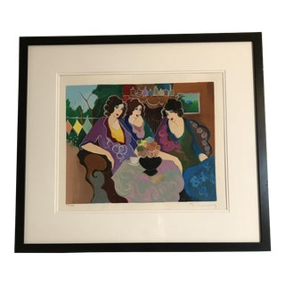"""""""After the Party"""" by Itzchak Isaac Tarkay Limited Edition Serigraph"""