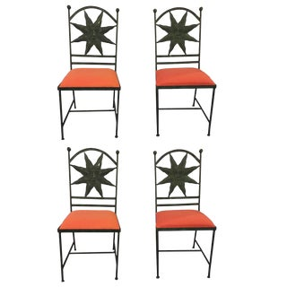Hollywood Regency Metal Side Chairs - Set of 4