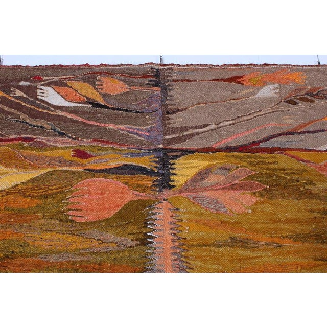 """Large Tapestry by Krystyna Wojtyna-Drouet Titled """"Fruit"""" - Image 5 of 10"""