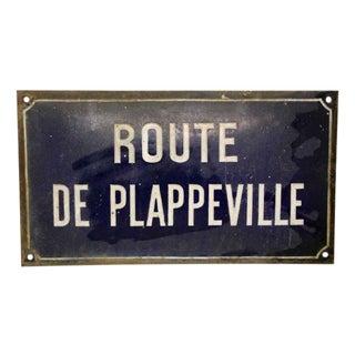 French 'Route De Plappeville' Sign