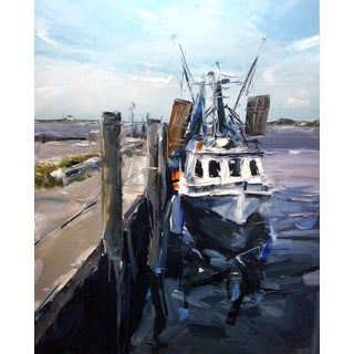 """Fishing Boat Beaufort, NC"" Painting"