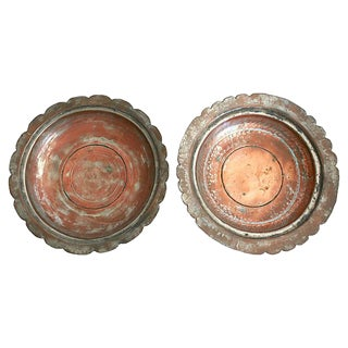 Egyptian Copper Bowls - a Pair