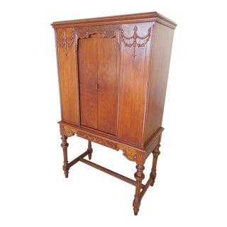 Vintage Adams Style Radio Storage Cabinet