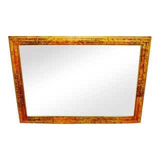Vintage Mottled Painted Framed Mirror