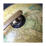 Image of Vintage Yellow World Globe with Stand