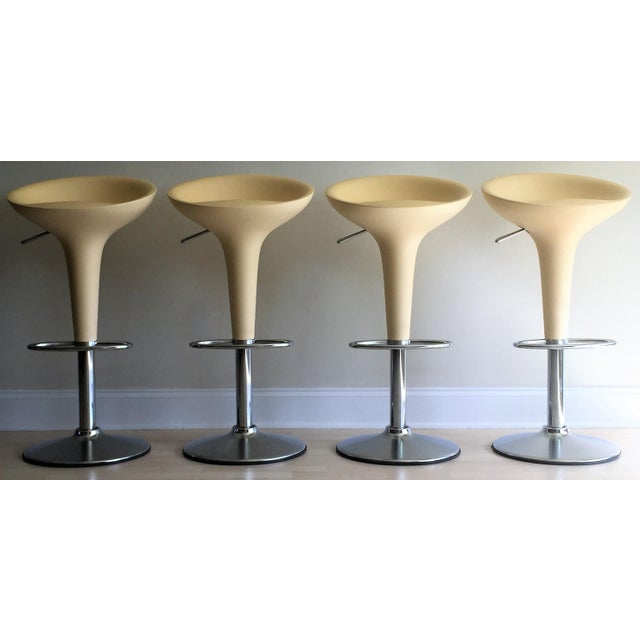 "Magis Chrome Adjustable ""Bombo"" Stools - Set of 4 - Image 2 of 11"
