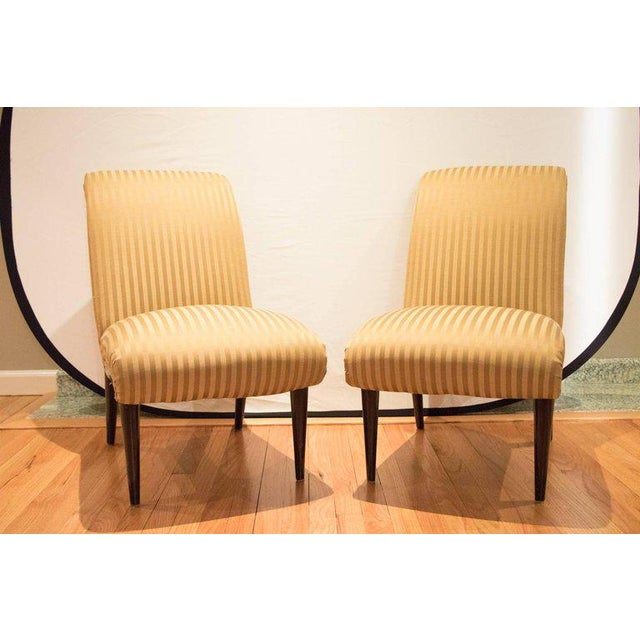 Viennese Biedermeier Style Art Deco Flare Slipper Chairs - a Pair - Image 2 of 9