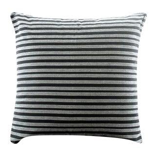 Black Lurik Woven Striped Pillow