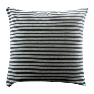Black Lurik Woven Striped Pillow