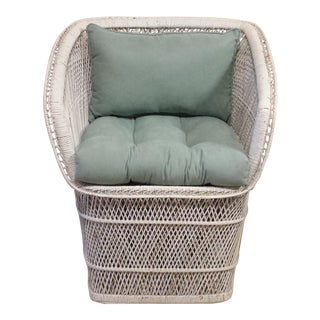 Vintage 1960s Wicker Buri Chair