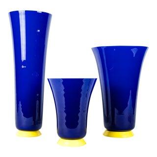 Mid-Century Modern Art Deco Style Vases - Set of 3