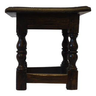 English Walnut Low Stool