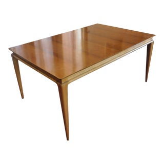 Mid-Century Teak & Maple Dining Table