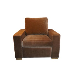 Restoration Hardware Art Deco Velvet Recliner