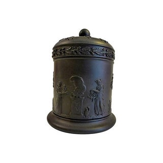 Wedgewood Black Lidded Container