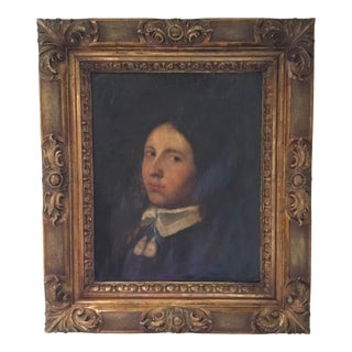 Antique Oil Portrait Painting