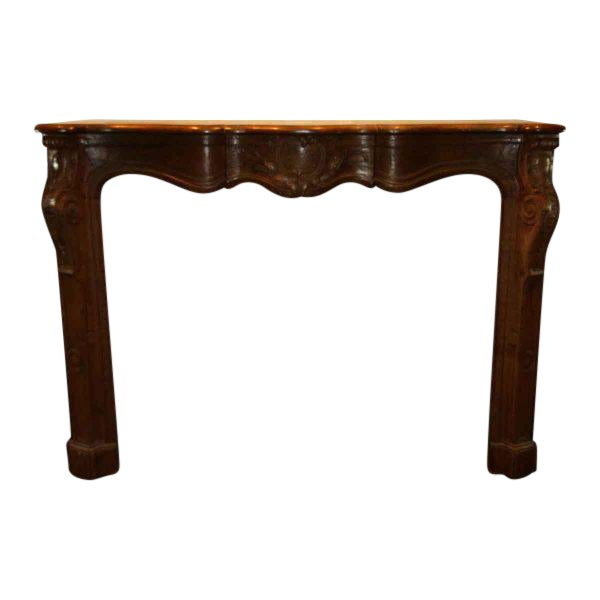 Hand Carved Oak French Provincial Mantel - Image 1 of 10