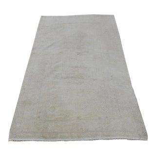 """Muted Nomadic Vintage Oushak Carpet - 3'8"""" x 6'5"""""""