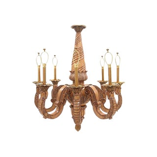 Maitland-Smith Carved Chandelier
