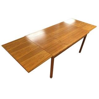 Restored Vintage Danish Teak Draw Leaf Table