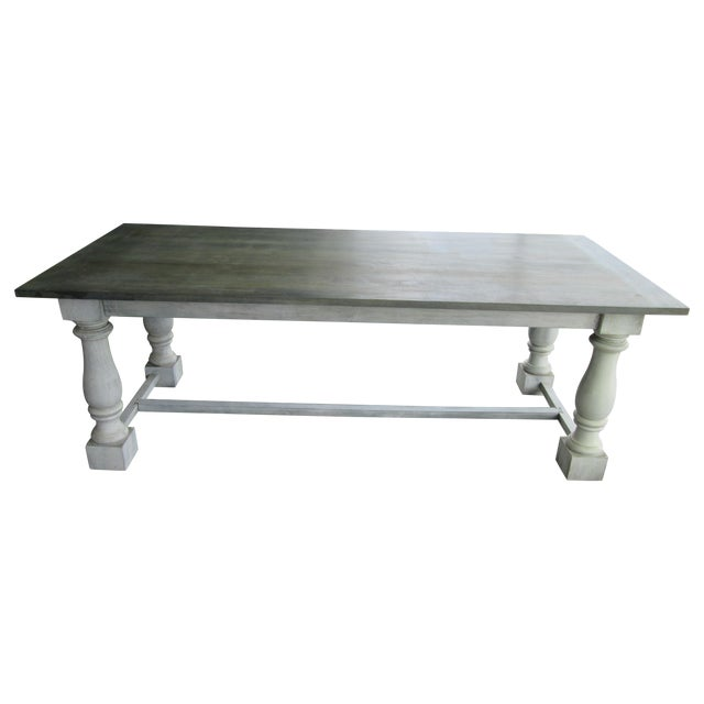 Primitive French Country Dining Table - Image 1 of 11