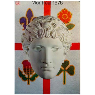 """1976 """"Classical Statue"""" Montreal Olympic Poster"""