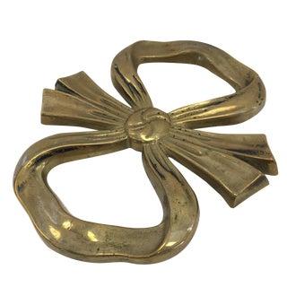 Vintage Brass Bow Trivet