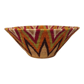 Coiled African Tribal Basket