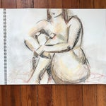 Image of Seated Nude Drawing