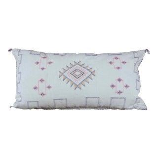 Alabaster White Moroccan Sabra Cactus Lumbar Cushion