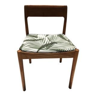 Mid-Century Leaf Pattern Chair