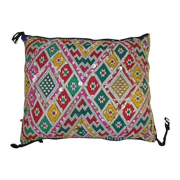 Image of Green & Pink Moroccan Sham