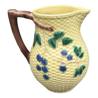 Tiffany & Co. Blackberries Majolica Pitcher