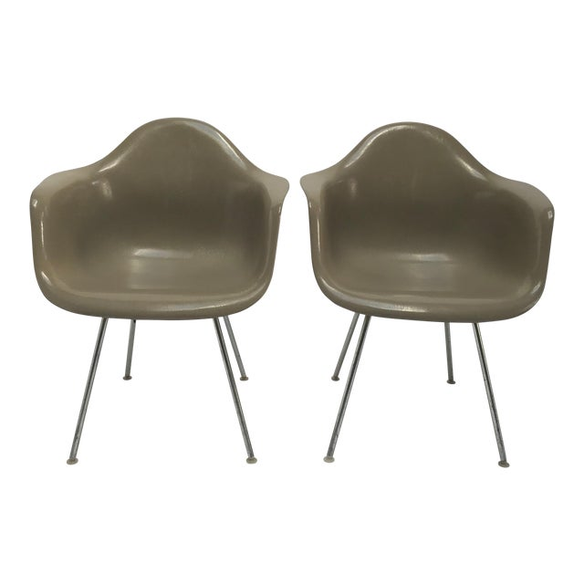 Vintage Eames Armchairs for Herman Miller - a Pair - Image 1 of 11