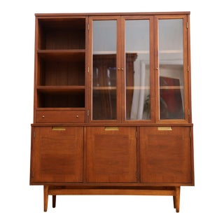 Vintage Mid Century Modern China Cabinet Hutch by American of Martinsville