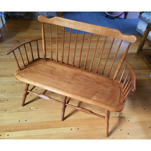 Conant Ball 1852 Spindle Back Deacon 39 S Bench Chairish