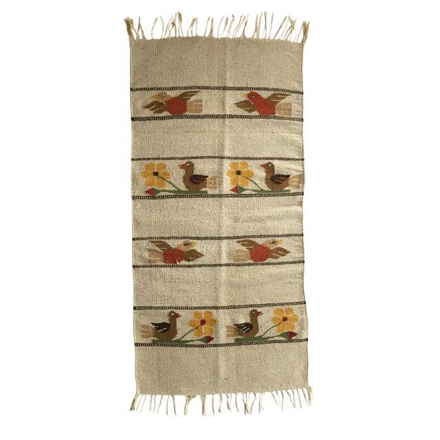 Hand Woven Folk Art Hanging - Image 1 of 5