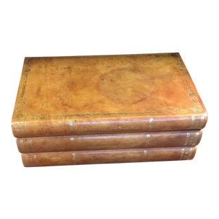 John-Richard Leather Bound Book Box