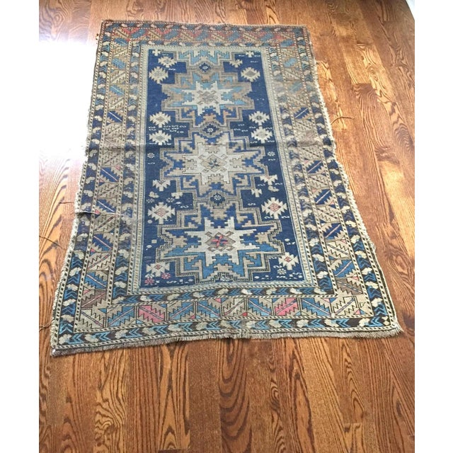 Antique Shirvan Persian Rug - 3′4″ × 5′2″ - Image 3 of 4