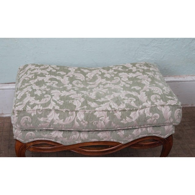 Ethan Allen Louis XV Chaise Lounge & Ottoman - Image 7 of 7