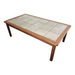 Danish Mid-Century Modern Tile Top Table