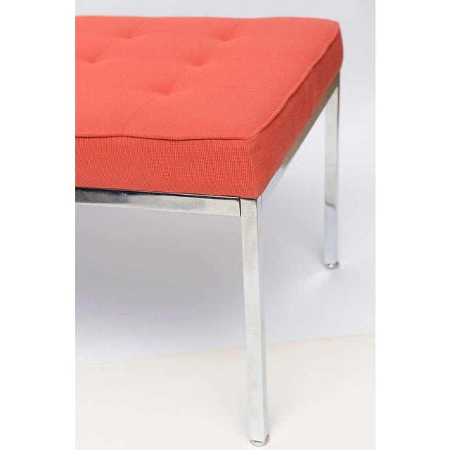 Florence Knoll Stainless Steel Bench - Image 7 of 9