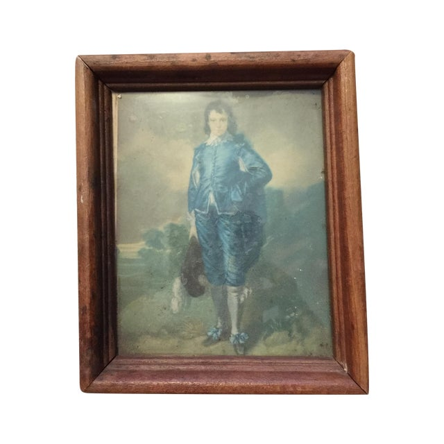 """Boy in Blue"" Antique Painting - Image 1 of 5"