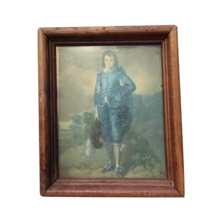 """""""Boy in Blue"""" Antique Painting"""